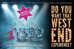 YSBD Theatre Academy brings the West End and, new for 2016, Film/TV experience to Cheshire