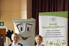 Phil the Bin meets talented Junior Recyclers