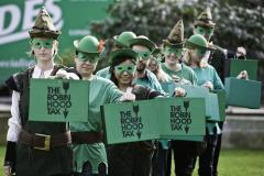 Robin Hood and his band of Oxfam merry men take to the streets