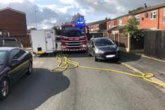 Badly parked vehicles prevent fire engine from reaching scene of house fire