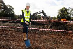 George Osborne breaks ground at Holly Road North development