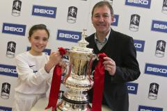 School receives visit from FA Cup and football legend
