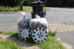 Clean Team bag over 1000 sacks of rubbish
