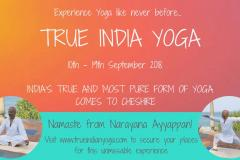 Authentic Ayurveda Yoga and Meditation from the True India comes to Cheshire!