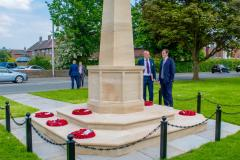 George Osborne remembers the fallen in Handforth