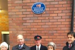 Plaque unveiled at site of Wilmslow Drill Hall