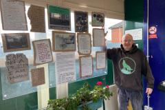 Handforth Station displays stories from the homeless