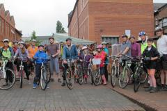 Cyclists of all ages join family ride