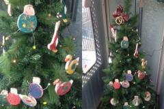 Schoolchildren's festive art on display at Handforth Station