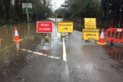 Updated: Alderley Road remains closed as flooding delays investigation (since reopened)