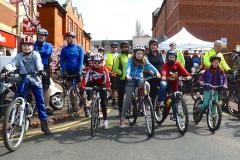 Wilmslow back in the saddle for family bike ride