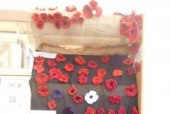 Knitted poppies crop up in Wilmslow Library
