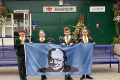 Pupils fly the flag for Churchill