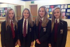 Girls selected to dance for English Youth Ballet