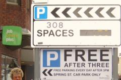 Businessman steps in to raise awareness of free parking
