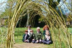 Willow arch flourishes at St. Anne's Fulshaw