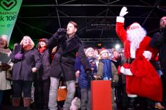 Crowds brave the cold for the Christmas lights switch on