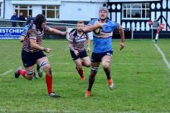 Rugby: Wolves triumph in close hard fought game