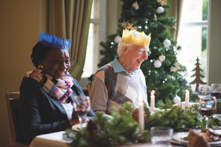Mealtime Christmas Residents Brookview