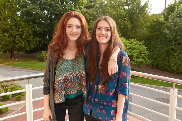 Former pupil Catherine Glover with sister Alex Glover