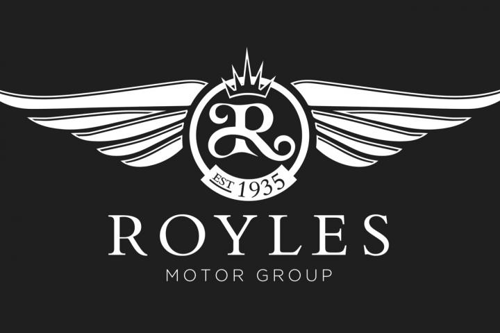 02 Royles Motor Group - white on black Large