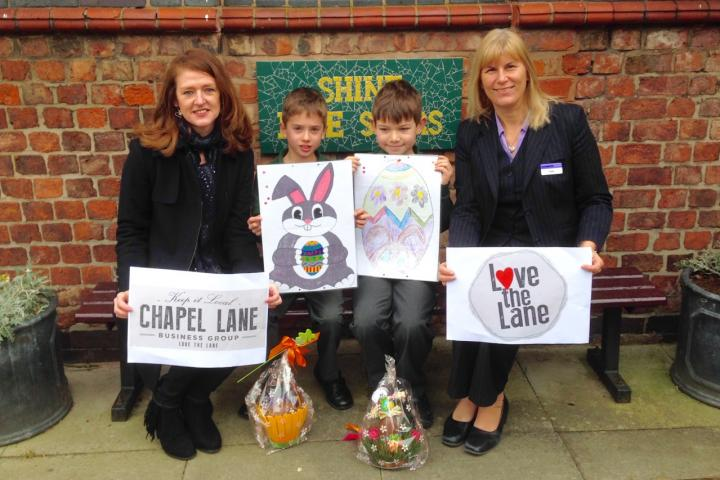 Easter Art Display Winners - St. Annes Fulshaw - Co-op FC  & CLBG 2016