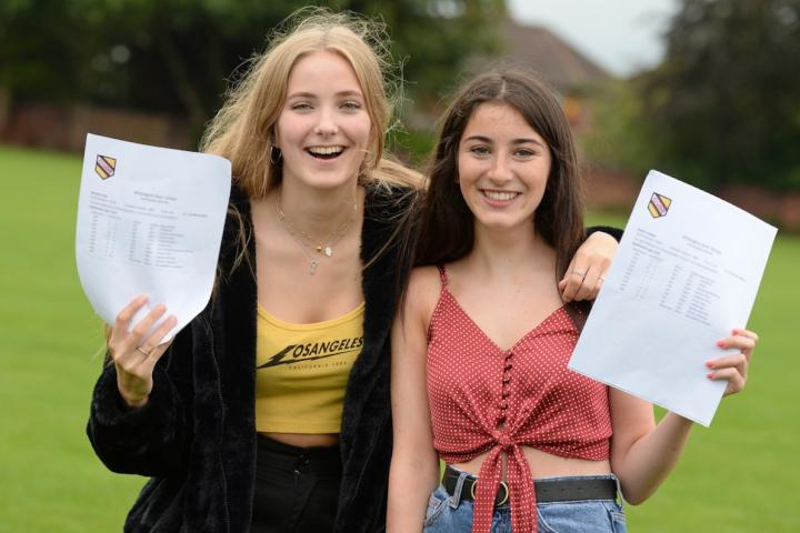 WGS-GCSE-Results-2018-Wilmslow_Freya and Sophie