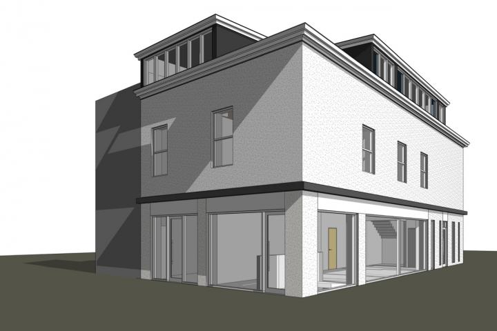 3D Proposed Side and Front elevation